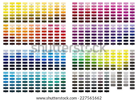 Color reference illustration. Shades from 100 to cool gray 11. - stock photo