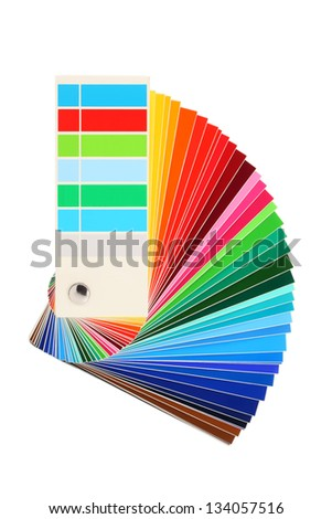 color samples, bribe colored, rainbow - stock photo