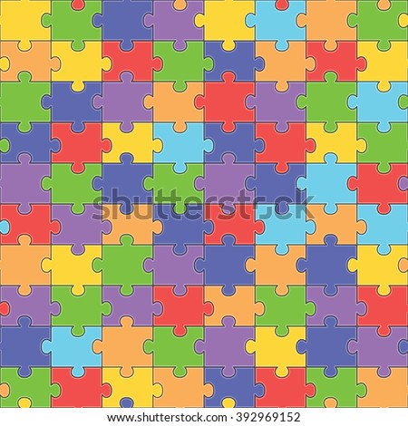 color seamless jigsaw puzzle pattern