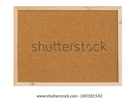 Color shot of a brown cork board in a frame.
