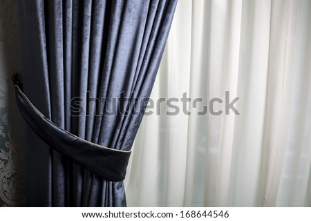 Color shot of a luxury curtain in a home - stock photo