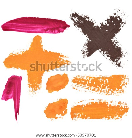 Color signs isolated over the white background - stock photo