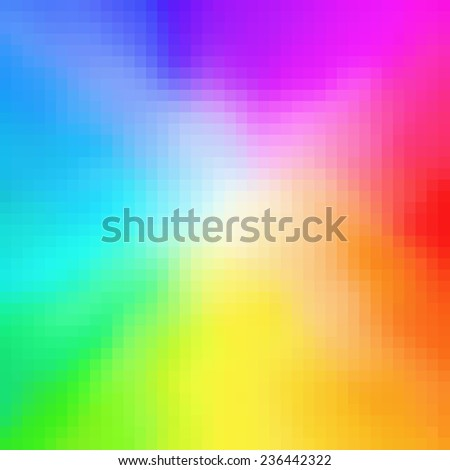 Color spectrum, mosaic background - stock photo