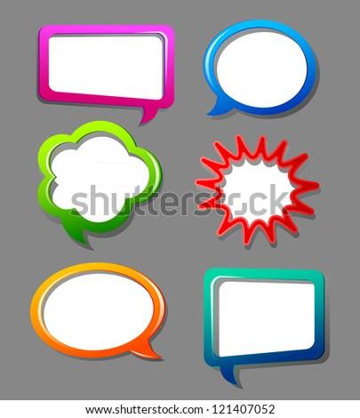 Color speech bubbles - stock photo