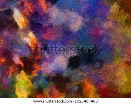 Color Splash Background Design Of Fractal Paint And Rich Texture On The Subject Imagination