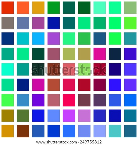 Color square blocks on a white background illustration. - stock photo