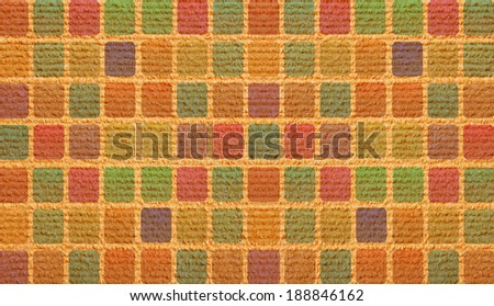 color squared carpet - stock photo