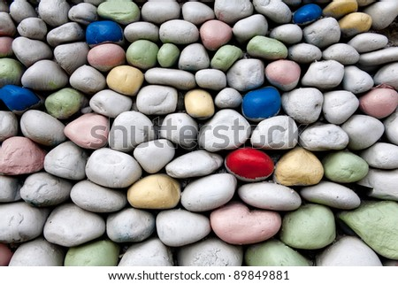 color stones of game park - stock photo