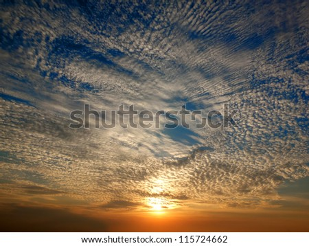Color sunset - stock photo