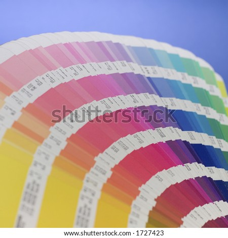 Color swatch book. (shallow DOF) - stock photo
