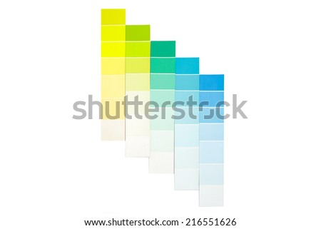 color swatches cool tone - stock photo