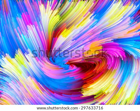Color Swirl series. Artistic abstraction composed of pattern of swirling color strands on the subject of creativity, imagination and art - stock photo