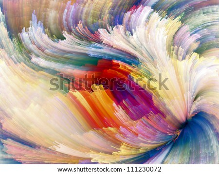 Color Swirls Series. Arrangement of streaks of digital paint on the subject of art, design and creativity - stock photo