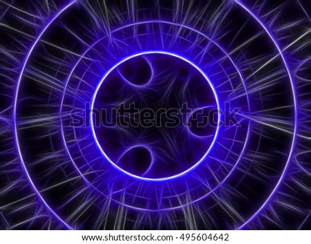 Digital illustration atheist symbol isolated background stock color technology background computer generated image fractal illustration chaos lines circles for desktop voltagebd Choice Image