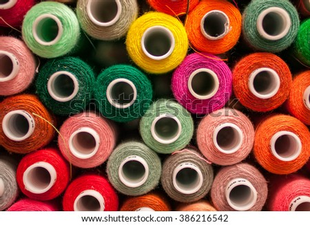 Color threads for sewing