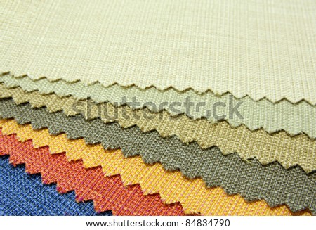 color tone  texture of fabric sample - stock photo