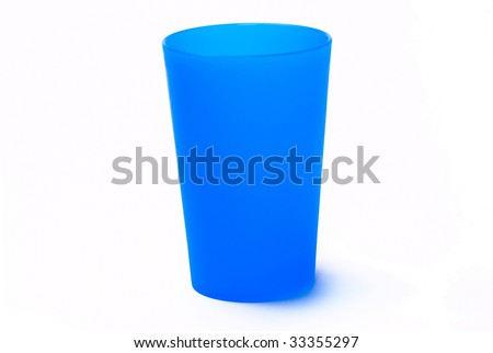Color toothbrush holder on the white background - stock photo