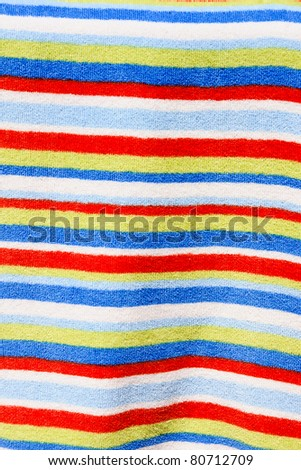 color towel - stock photo