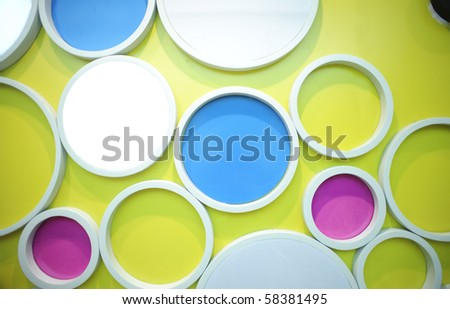 color wall with circles