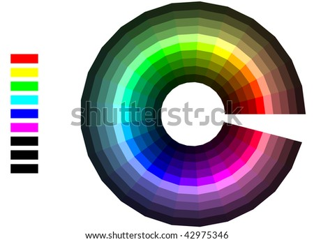 Color wheel. Vector also available.