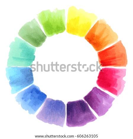 Color Wheel Watercolor Spectrum
