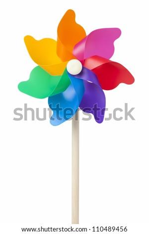 Color windmill - stock photo