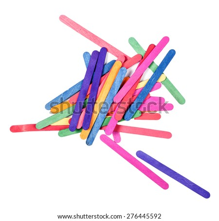 color wood ice-cream stick art and abstract