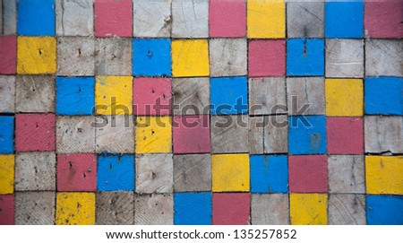 color wood texture - stock photo