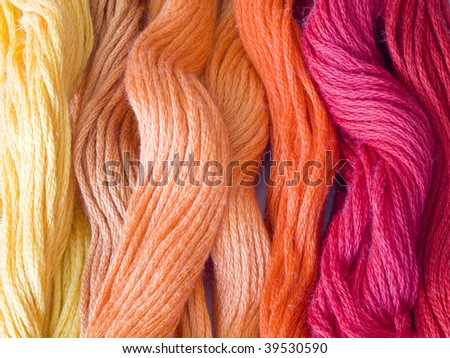 color yarns - stock photo