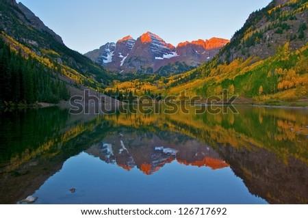 Colorado Maroon Bell - stock photo