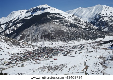 Colorado Mountain Town - stock photo