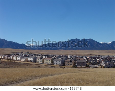 Colorado mountains and field