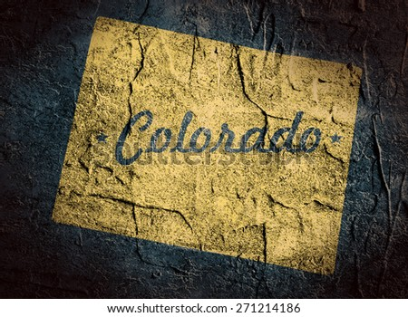 colorado outline textured map