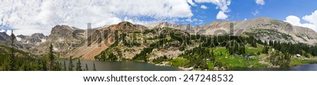 Colorado Rocky Mountains Panoramic Landscape Scene - stock photo
