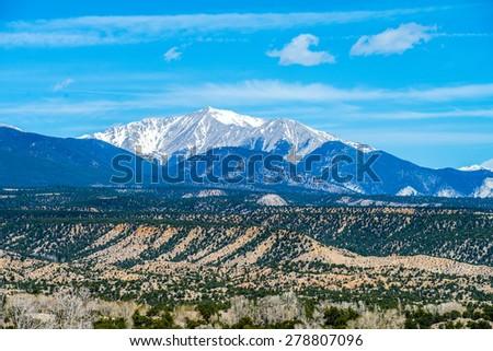 colorado rocky mountains vista views - stock photo