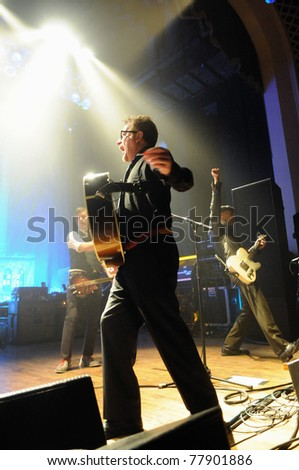 COLORADO SPRINGS, CO. USA – MAY 4:	Alternative band Flogging Molly performs in concert May 4, 2011 at the City Auditorium in Colorado Springs, CO. USA