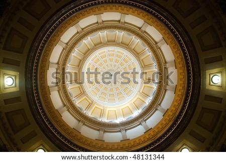 Colorado State Capitol Building interior rotunda - stock photo