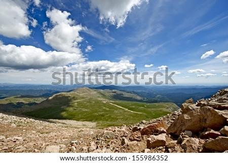 Colorado Summer Landscape. Rocky Mountains - Road to Mount Evans. Colorado Photo Collection. - stock photo