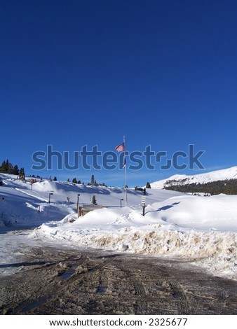 Colorado Vail Pass winter landscape - stock photo