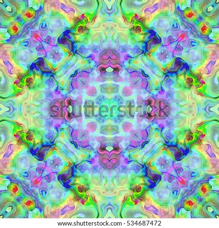 Colored abstract fractal pattern. Computer generated graphics.