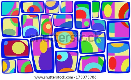 Colored abstract pattern of elements retro background