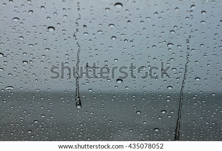 Colored abstract pattern of water drop on nature background:Close up,select focus with shallow depth of field:ideal use for background. - stock photo