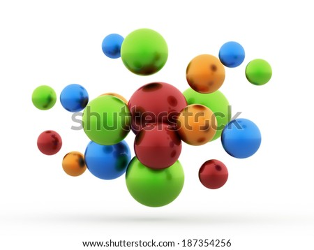 Colored abstract sphere concept background rendered isolated - stock photo