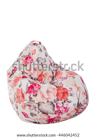 colored armchair bag on a white background