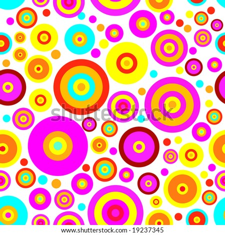 Colored background of circles Fashionable Seamless