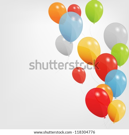 colored balloons, Raster Version. - stock photo