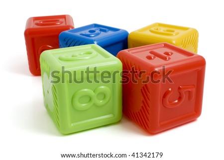 colored blocks - stock photo