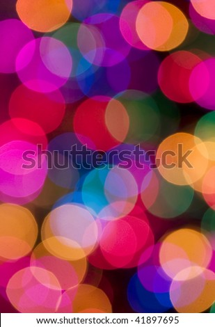 colored blur lights , defocused background - stock photo
