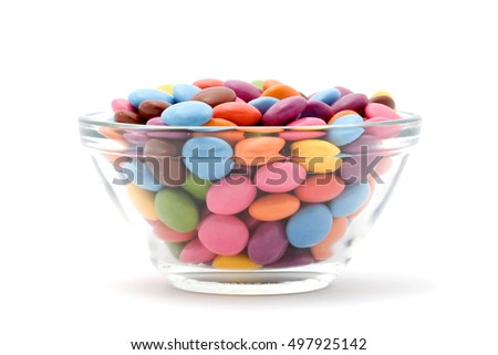 colored bonbons studio isolated over white