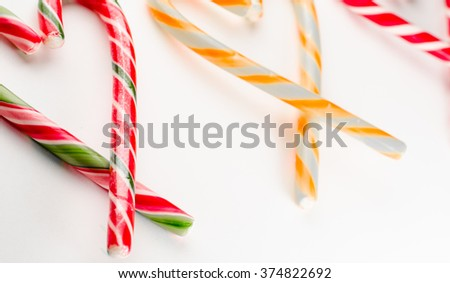 colored candy in heart shape on white background,valentines day - stock photo